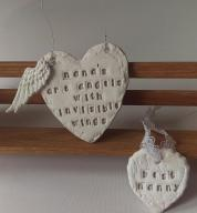 Personalised Porcelain Angel Wing Heart_copy