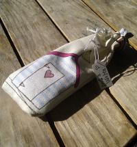 Handmade Nautical Beach Hut Fabric Lavender Scented Bag