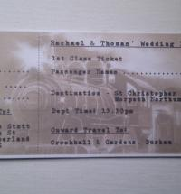 Handmade Train Railway Ticket Wedding Invitation