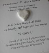 Porcelain Heart Wedding Day / Night Invitation