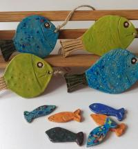 Ceramic Hanging Nautical Fish (Assorted)