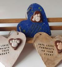 Personalised Ceramic Dog / Cat Pawprint Heart