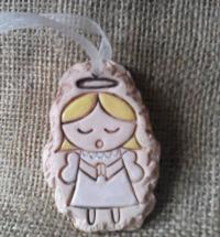 Ceramic Choir Angel Tree Decoration