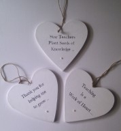 Personalised Teacher Message Wooden Heart