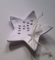 Porcelain Personalised Wedding Star Ring Dish