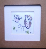 Art Illustrated Owl Framed Picture