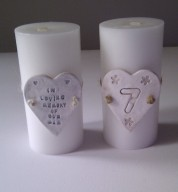 Personalise Porcelain Table Number Heart
