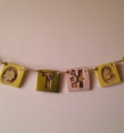 Pesonalised Ceramic Letter / Name Bunting