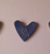 Ceramic Alphabet Heart Tile