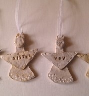 Personalised Ceramic Hanging Angel