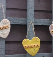 Ceramic Personalised Garden / Home Motto Heart
