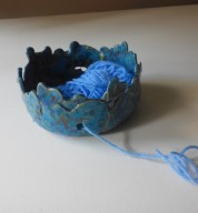 Handmade Medium Heart Crochet Yarn Bowl