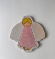Ceramic Angel Tile Plaque / Coaster