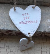 Personalised Our 1st Christmas Heart