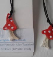 Porcelain Alice Toadstool Pendant Necklace
