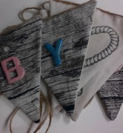 Fabric & Ceramic Letter/Name Bunting