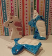 Porcelain Unicorn Brooch
