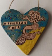 Ceramic Mermaids Rule Heart