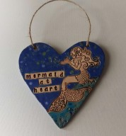 Mermaid At Heart Ceramic Heart