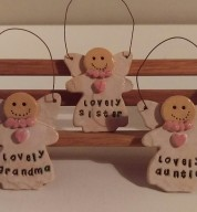 Personalised Angel Gingerbread Decoration