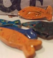 Fairy Pond Minature Ceramic Fishes (3)
