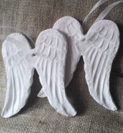 Porcelain Personalised Angel Wings