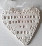 Christening Porcelain Heart