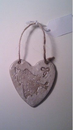Ceramic Angel Hanging Heart