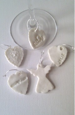 Personalised Porcelain Ceramic Wine Glass Charm (Assorted)