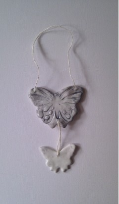 Personalised Porcelain Butterfly Hanging Ornament