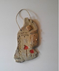 Ceramic Fairies Welcome Personalised Door