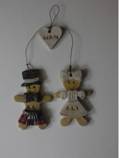 Scottish Mr & Mrs Wedding Couple Gingerbread