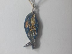Large Ceramic Mermaid Necklace