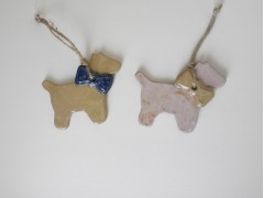 Personalised Ceramic Dog & Bow