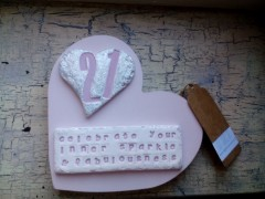 Personalised 18th 21st, Age Celebration Heart