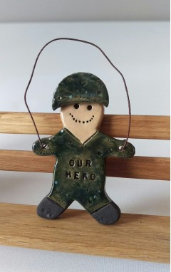 Army Hero Gingerbread Man
